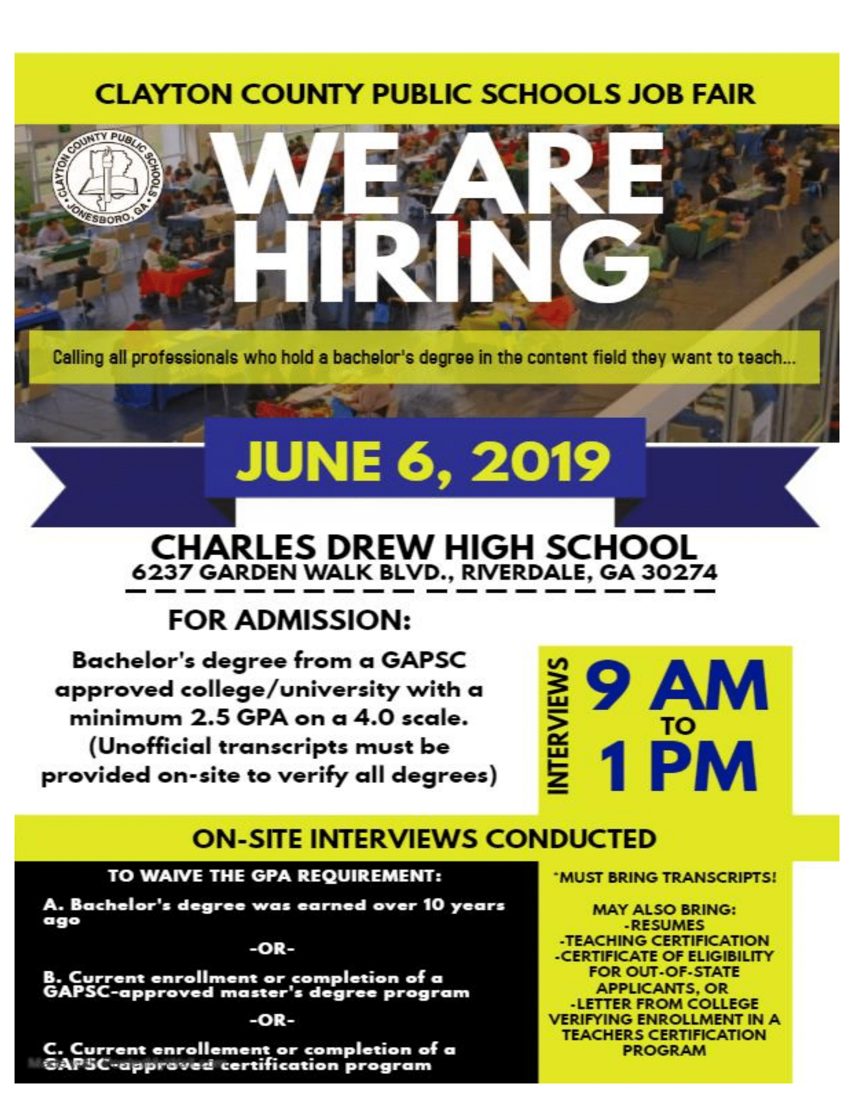Job Fair June 6th